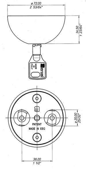 Medidas Cerradura MERONI UFO